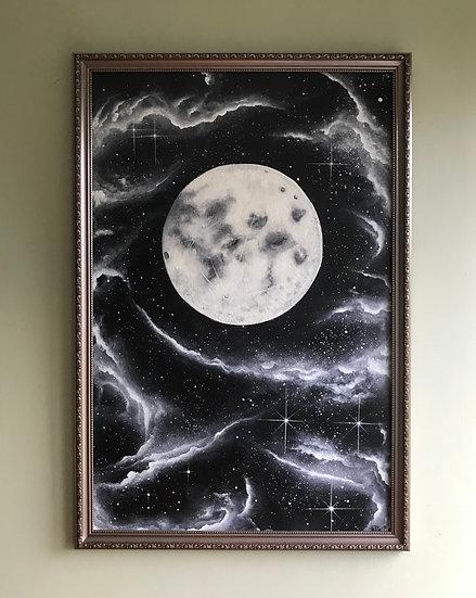 Original painting - 'Shining light' Acrylics on canvas board