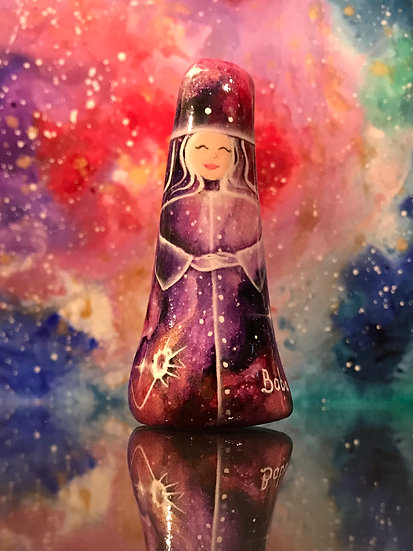 CUSTOM Hand painted cosmic gnome for Stolen Attic