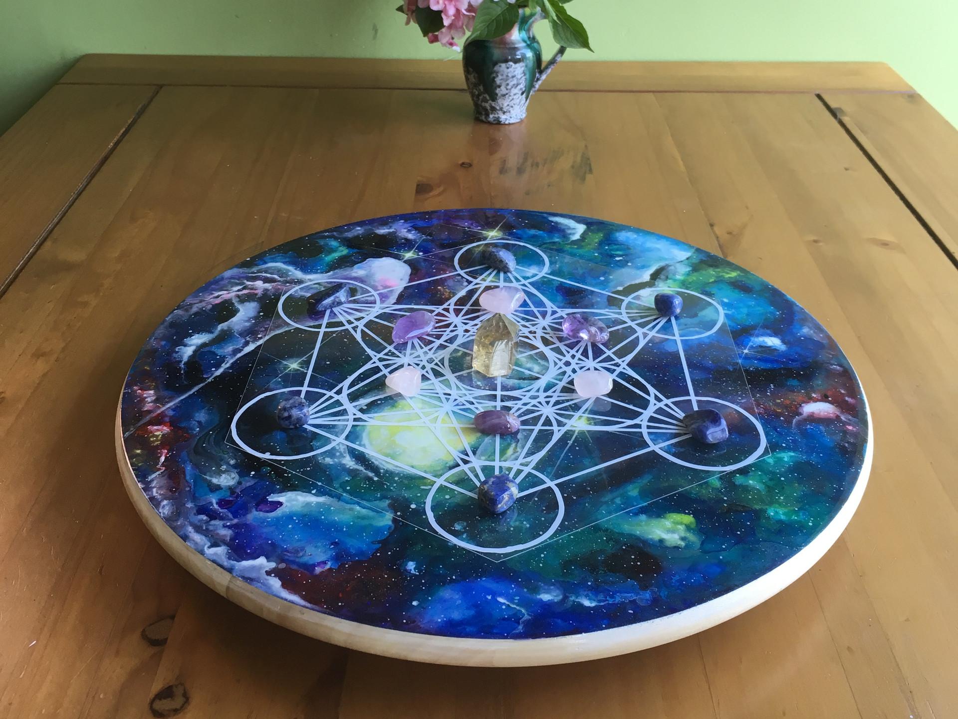 Rotating crystal grid