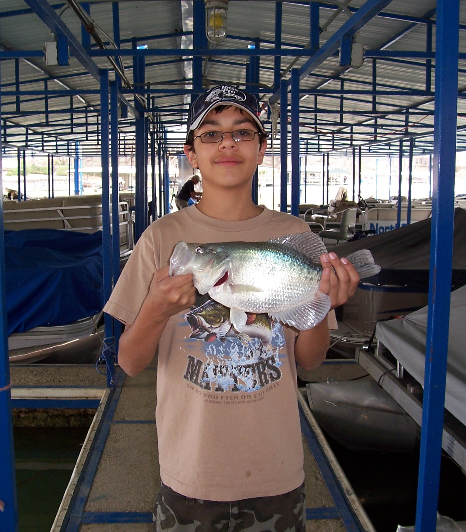Crappie off the Docks