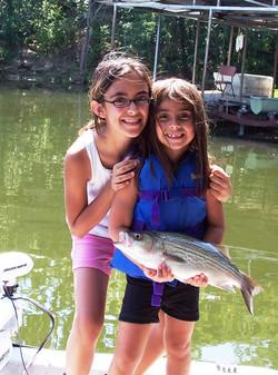 Girls Catch Big Fish