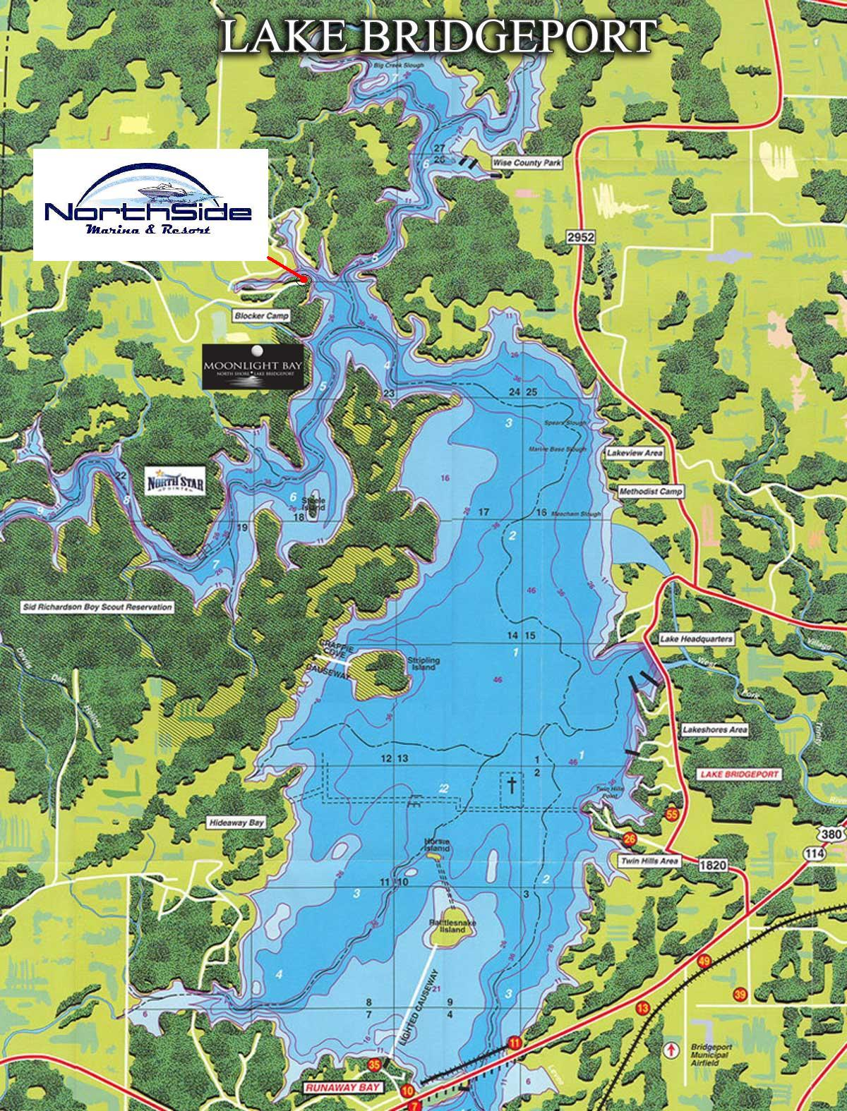 Map of the Large Lake