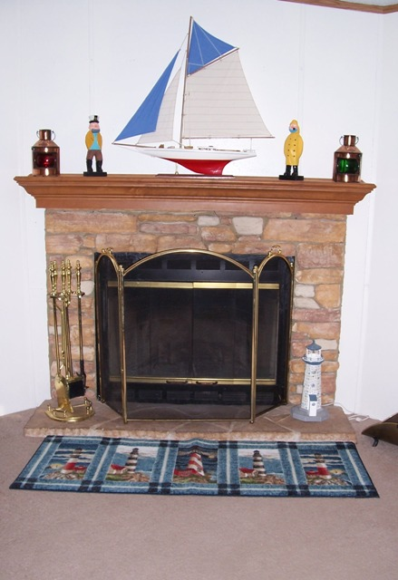 Creek Stone Fireplace