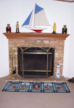 Creek Stone Fireplace