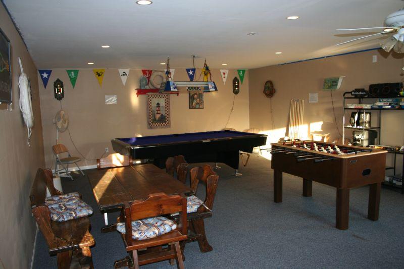 Pool in the Gameroom