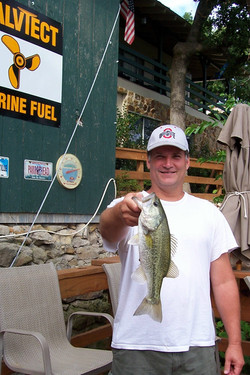 Black Bass Caught off the Dock