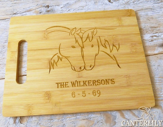 Horses Personalized Cutting Board