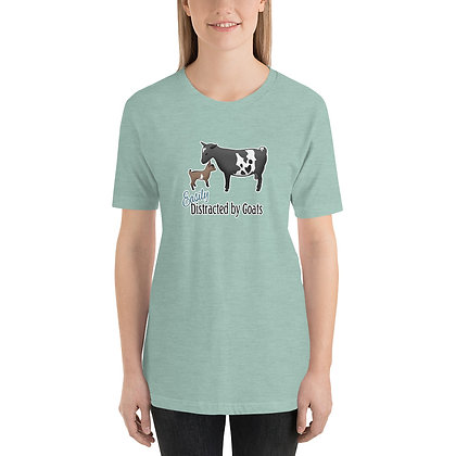 Distracted by Goats Short-Sleeve Unisex T-Shirt