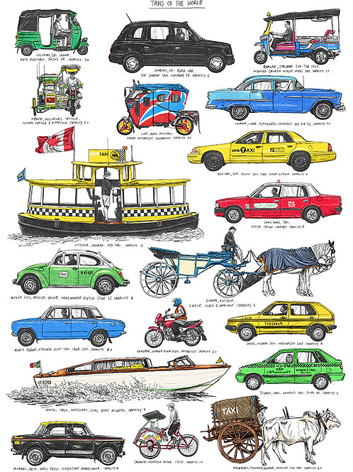 Taxis Of The World - A3
