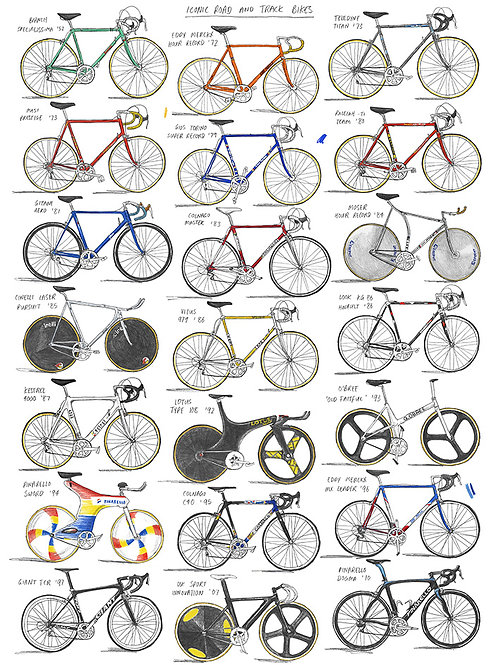 Iconic Road and Track Bikes - A3