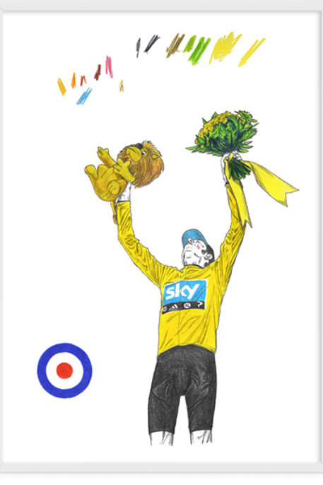 Wiggins, Tour De France Podium - A3