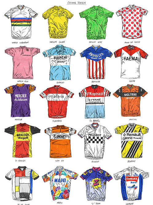 Cycling Jerseys - Edition 1 - A3