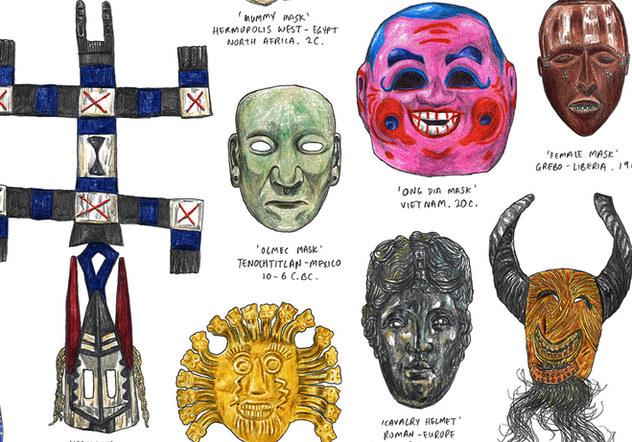 Magma Books - Masks Of The World