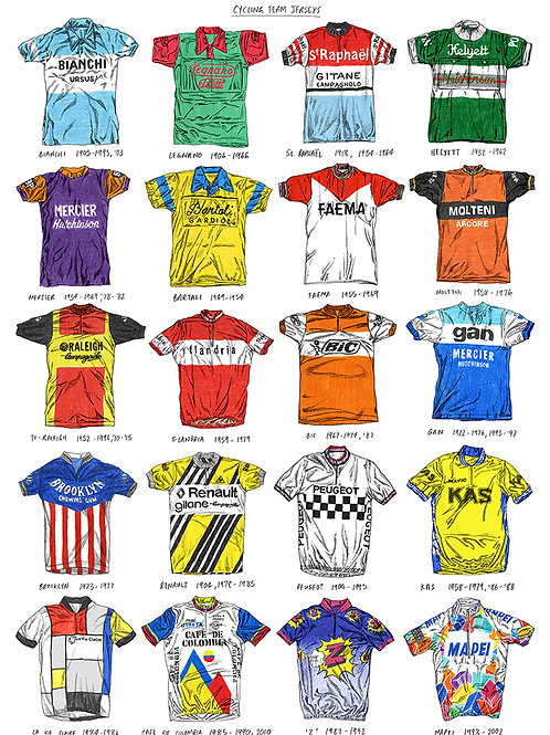 Cycling Team Jerseys - Special Edition - A3