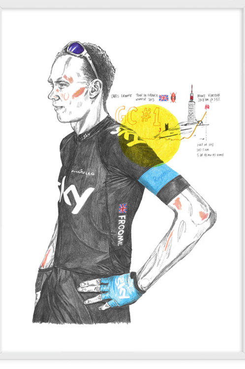 Chris Froome, Glandon Portrait - A3