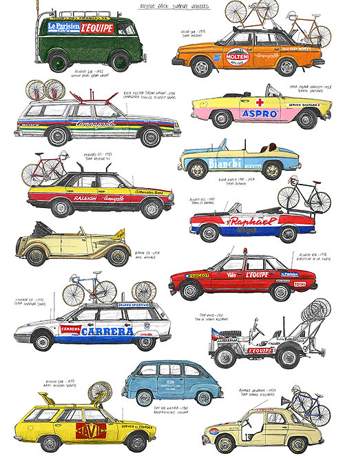 Bicycle Race Support Vehicles - A3
