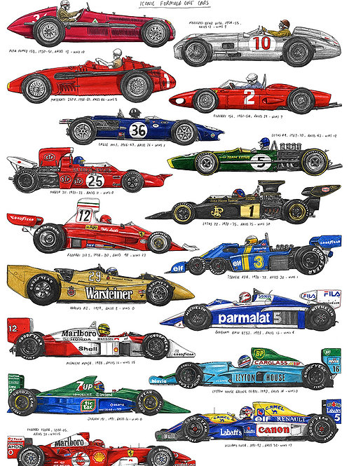 Iconic Formula 1 Cars - A3