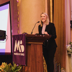 Magen as Emcee for a March of Dimes event