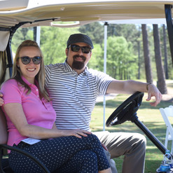 Magen and Austin at PBGA's Cast & Swing for Sight