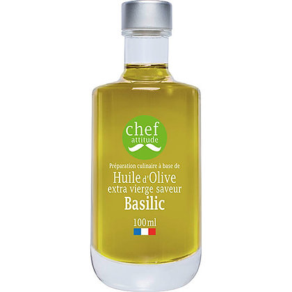 Huile d'olive extra vierge saveur Basilic | Provence | 100ml