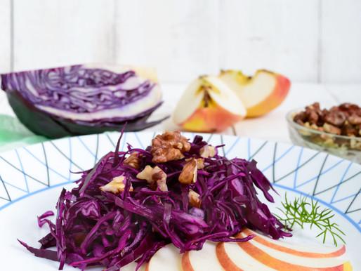 Salade de chou rouge à la pomme et à l'orange