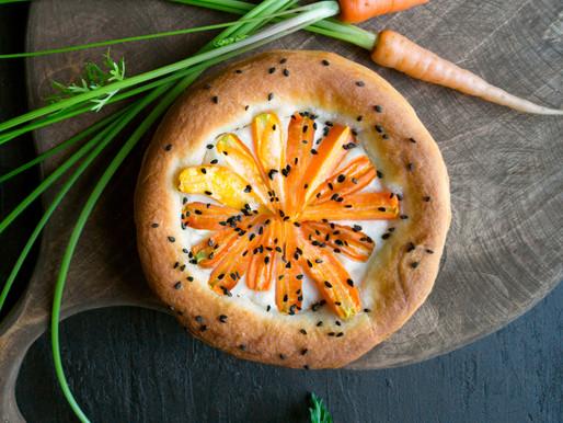 Tarte de carotte au fromage de chèvre frais !