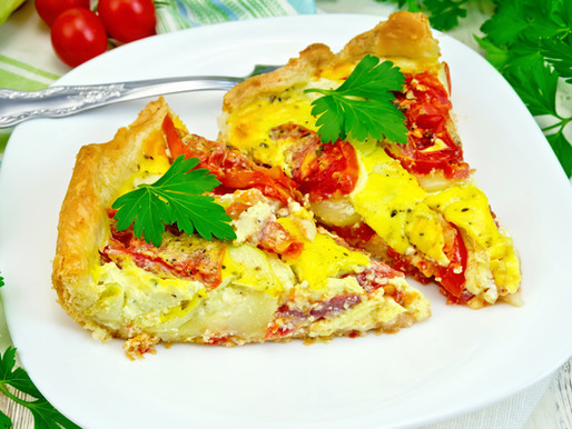 Tarte courgette et tomate cerise