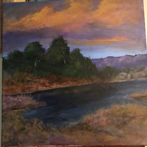 """Evening Lake"" - Bob Wetzel"