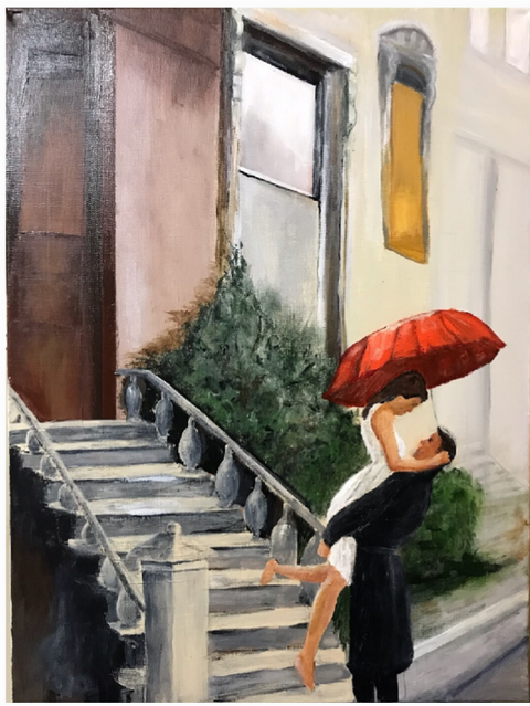 """""""An Afternoon on the Front Steps"""" - Edna Beavers"""