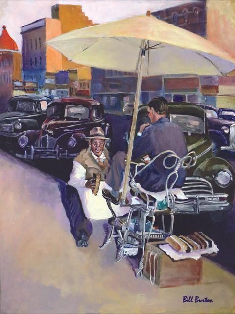 """Afternoon Shoeshine - circa 1946"" - Bill Burton"