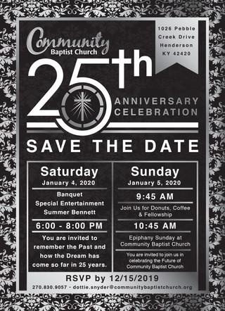 Community Baptist 25th Anniversary