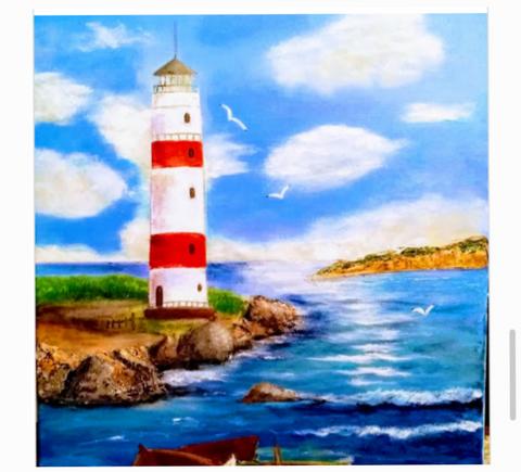"""""""The Light House"""" - Edna Beavers"""