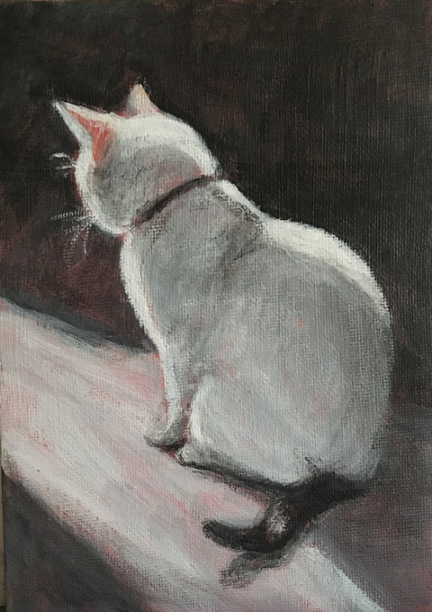 """""""Afternoon at the Kitty Cafe"""" - Iris Gentry"""