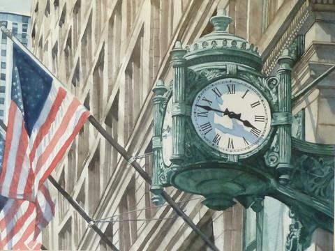 """Patriotism at Marshall Fields"" - Diane Ubelhor-Wunderlich"