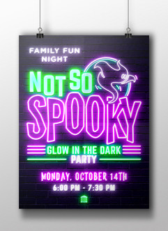 Not So Spooky Glow in the Dark Party - HCPL