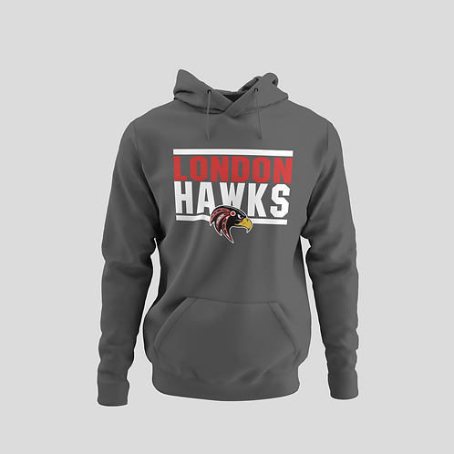 London Hawks Grey Performance Hoodie