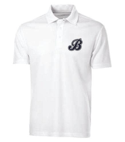 Baycats Team Golf Shirt - White B Logo