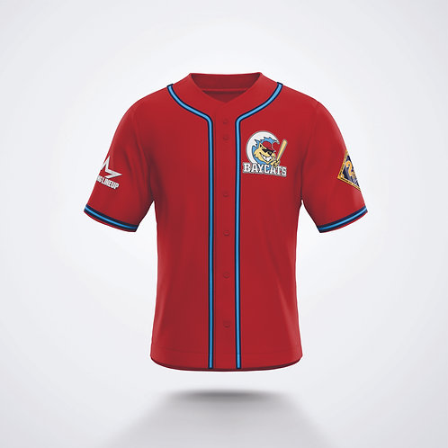 Baycats 20th Anniversary Red Alternate Jersey
