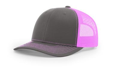 Richardson 112 - Charcoal Neon Pink