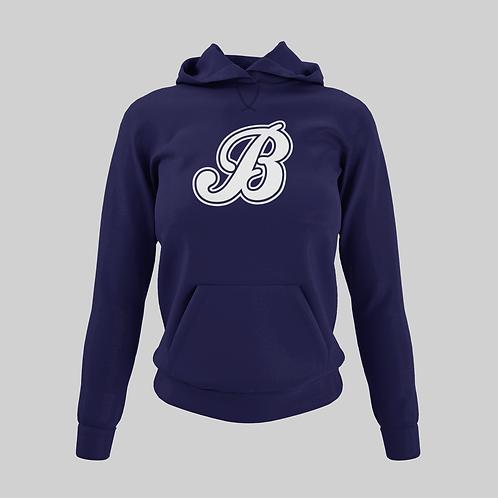 Baycats Women's Performance Hoodie B Logo Navy