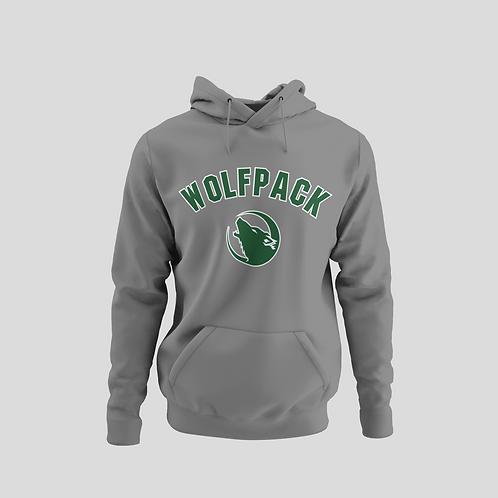 Barrie Wolfpack Grey Performance Hoodie (Green Logo)