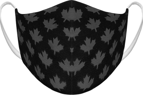Black Maple Leafs - Sublimated Reusable Face Mask