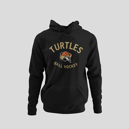 London Turtles Black Performance Hoodie (Gold Logo)