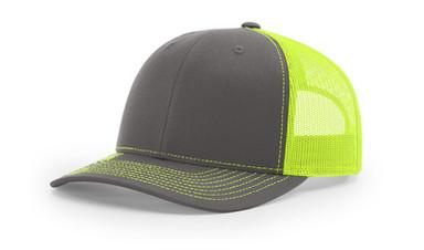 Richardson 112 - Charcoal Neon Yellow