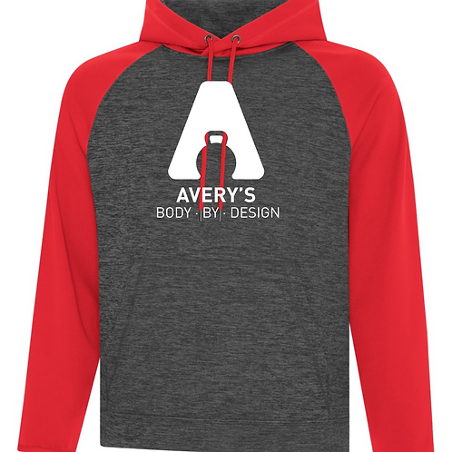 Body By Design Raglan Hoodie Red