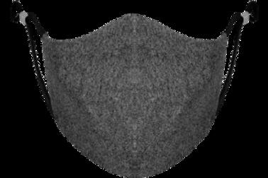 Dark Heather Grey Adjustable - Reusable Face Mask