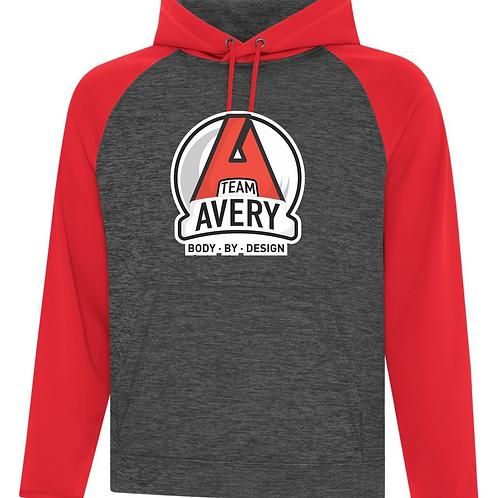 Team Avery Raglan Hoodie Red
