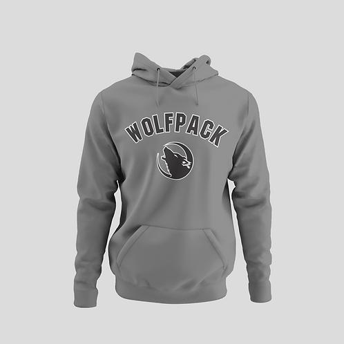 Barrie Wolfpack Grey Performance Hoodie (Black Logo)
