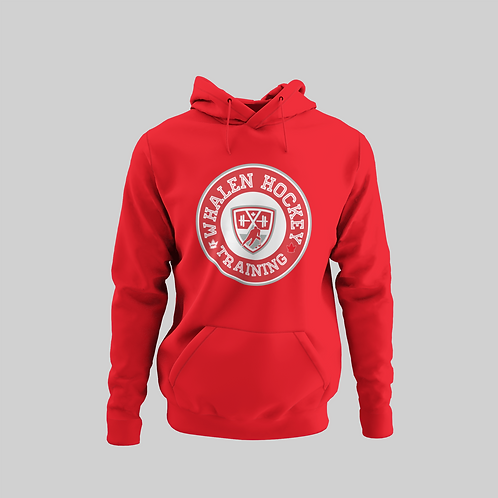 Whalen Blues Red Performance Hoodie (Red Logo)