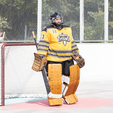 Athlete in a yellow uniform
